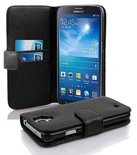 4589beb5a73 Cadorabo Samsung Galaxy Mega 6.3 Funda de Cuero Sintético Estructura en Negro  ÓXIDO Cubierta Protectora Estilo Libro con Cierre Magnético, ...