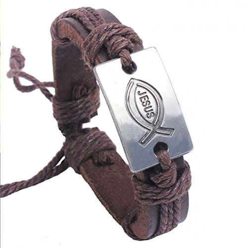 Clearance Sale!Funic Men's/Women's Faux Leather Braid Bracelet Handmade Retro Design Bangle Gifts -
