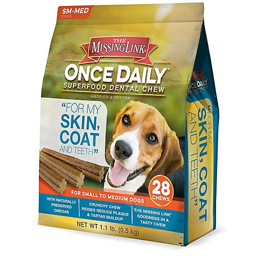 Missing Link Skin/Coat Dental Chews Small Dog 28ct by The Missing Link (Image #1)