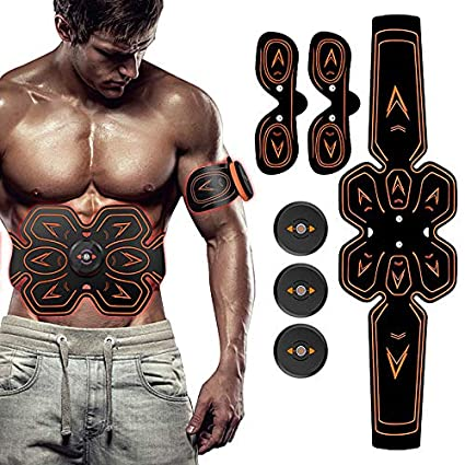 3040993c3b SHENGMI ABS Stimulator Muscle Toner Abdominal Toning Belt Workouts Portable EMS  Training Home Office Fitness Equipment