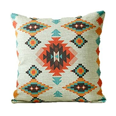 Homedecorzone Aztec Decorative Throw Pillow Cover Navajo Pillow Case Tribal Pillow Sham 18x18