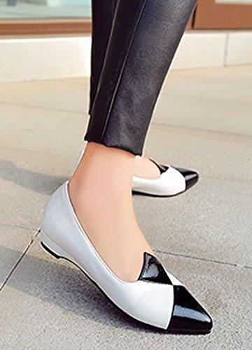 Aisun Femme Ballerines Bout Confort Basse Pointu Plat Blanc qqUrAdxpw