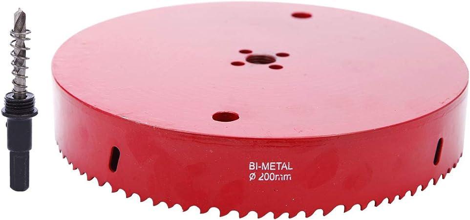 aluminium rouge SurePromise Kit de forets pour scie cloche Diam/ètre tr/ès r/ésistant Outil de d/écoupe Bim/étal Scie cloche pour bois fer et tuyau en plastique
