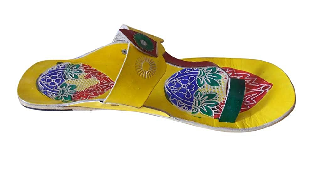 Kalra Creations Womens Traditional Indian Leather Designer Slippers