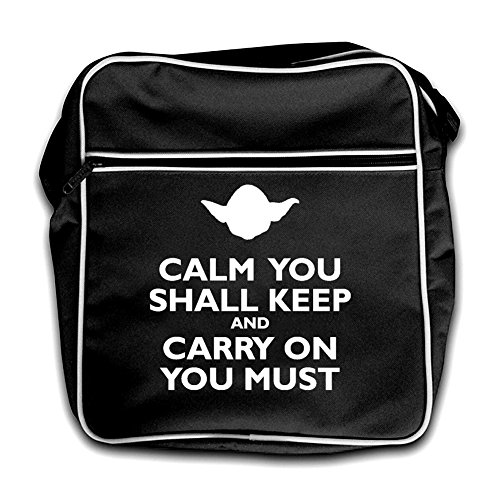 Must You Black Shall And Retro You Flight Bag Red On Carry Keep Calm W1wASq0c