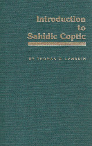 Introduction to Sahidic Coptic by Brand: Mercer Univ Pr
