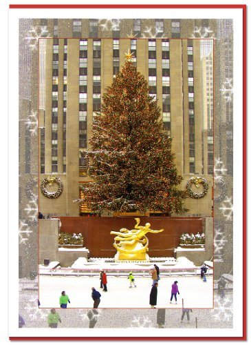 Rockefeller Center Ice Skating Rink. New York Christmas Cards Set of 6 by NYChristmasGifts ()