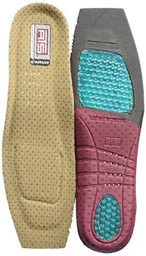 ARIAT Women's ATS Footbed Wide Square Toe Insole 8 Grey