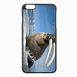 iPhone 6 Plus Black Hardshell Case 5.5inch - tusks walrus mountain spray Desin Images Protector Back Cover