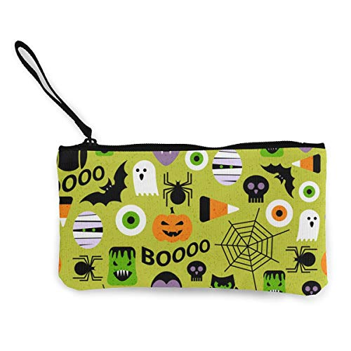 MODREACH Women's Pumpkin Bat Spider Web Halloween Party Patterns Purse Clutch Bag Card Holder]()
