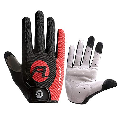 Glumes Cycling Hiking Gloves Bike Bicycle Gloves Windproof Anti-Slip MTB Road Touchscreen Recognition Full Finger Gloves Men/Women Winter Outdoor Gloves To Stay Warm