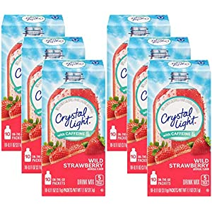 Well-Being-Matters 516z8i0pFdL._SS300_ Crystal Light On The Go Wild Strawberry with Caffeine, 10-Count Boxes (Pack of 6)