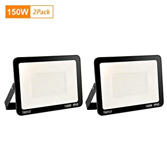 2 * 150W LED Foco exterior,Proyector Foco LED 6000K Blanco Frío ...