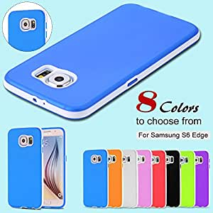 S6 Ultra Thin Double Color TPU Case For Samsung Galaxy S6 G920 Durable Slim Light Soft Phone Back Cover For S 6 Combo Shell --- Color:White