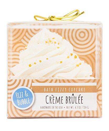 Fizz & Bubble Bath Fizzy Bomb Cupcake Creme Brulee 6.5 Ounce (Edible Bath Bubbles)