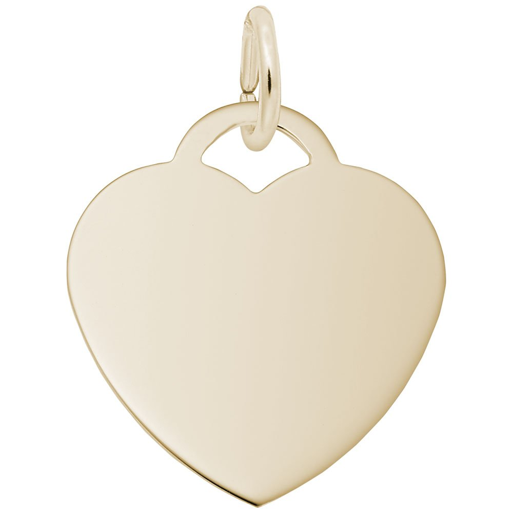 Classic Charm 10k Yellow Gold Medium Heart Charms for Bracelets and Necklaces