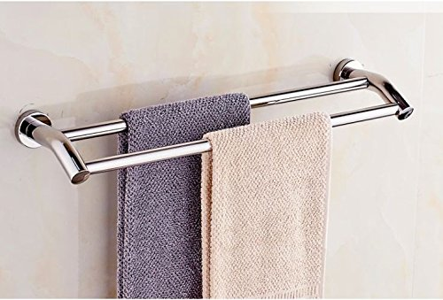 LVLIDAN Shelf Toilet Towel bar rails Contemporary Stainless steel Double layer Wall mounted 50cm by LVLIDAN Towel Rail
