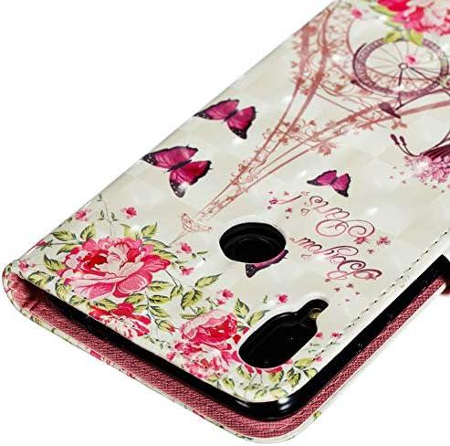 Dragonne Cou Coopay Original Coque Redmi Note 7 Fleur Papillon Motif Pochette Support Livre /Étui a Rabat Faux Cuir avec Fermeture Magn/étique et Porte Carte Bumper pour Xiaomi Redmi Note 7 6.3