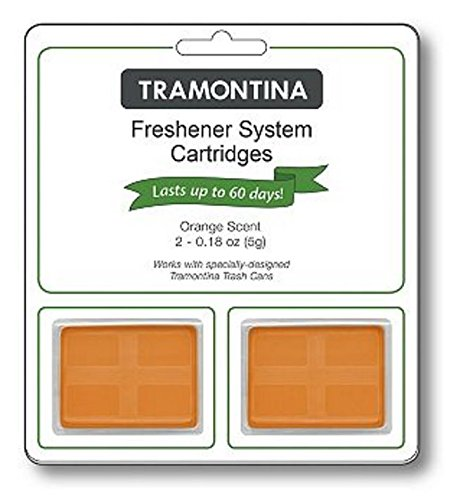 Tramontina Step Can Freshener System Odor Cartridges 2pk, 0.18 oz each (FRESH SKY, LEMON or ORANGE SCENTS) (Orange) (Tramontina Step Trash Can compare prices)