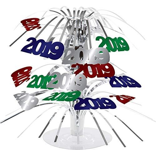 2019 Multi Color Party Centerpiece Foil New Years Eve, Graduation