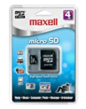 Maxell 4 GB Micro SDHC Flash Memory Card with Adapter 502001