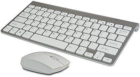 SmartMarketingWay Multimedia mini teclado inalámbrico y ratón inalámbrico blanco ,El USB lo encontraras dentro del TECLADO junto a la pila ...