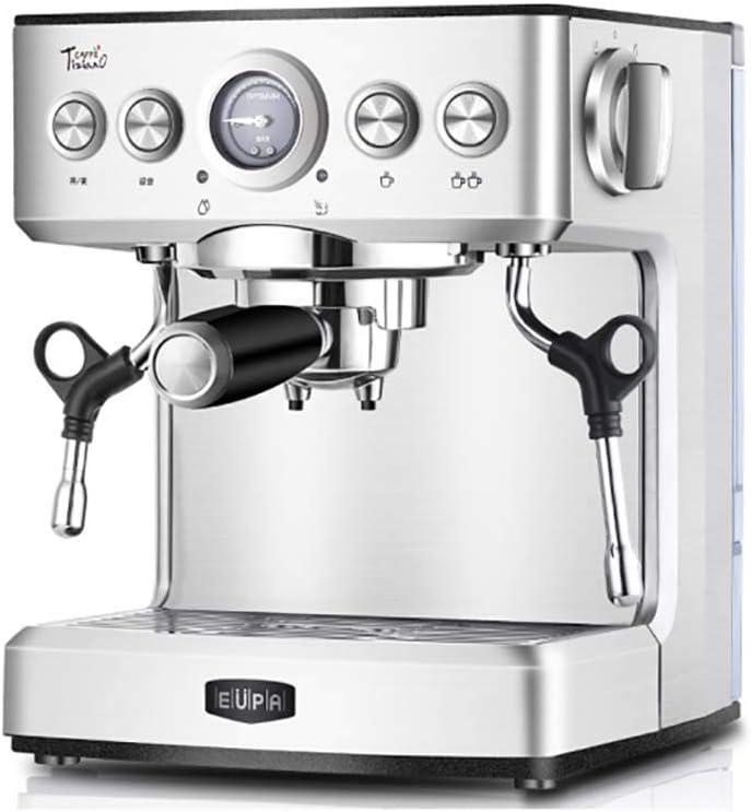 RUIXFCA Cafetera automática, Auto-Limpieza, Sistema Cappuccino, Presión 19 Bares, 1150 W, Depósito 2.1 litros, Vaporizador Orientable, con Doble Salida: Amazon.es: Deportes y aire libre