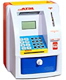 ATM Machine Piggy Bank with Personal ATM Card & LCD Display for Kids (Orange & White )