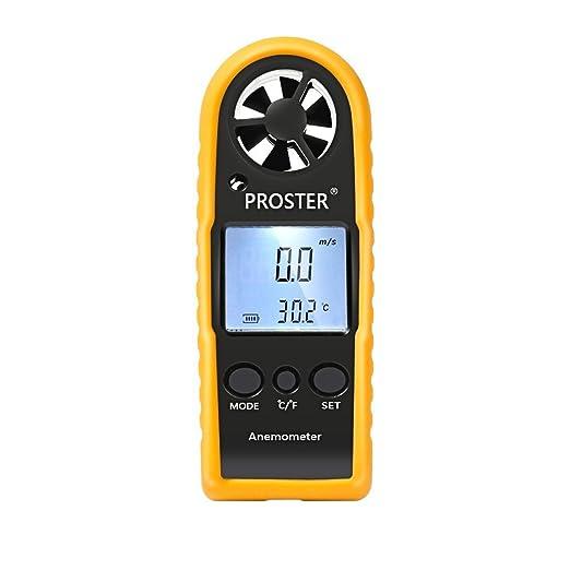 57 opinioni per Proster LCD Anemometro Termometro Digitale Misuratore Calibro Scale per Velocità