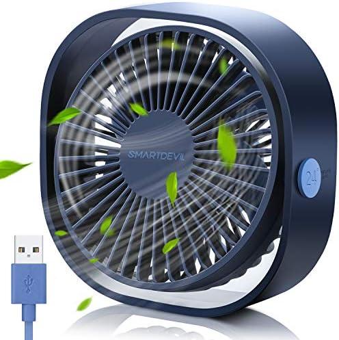 SmartDevil Ventilador USB, Mini Ventilador USB Silencioso ...