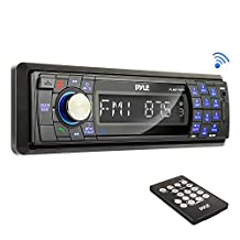 Pyle AM/FM-MPX In-Dash Marine Detachable Face Radio with SD/MMC/USB Player and Bluetooth Wireless Technology PLMR17BTB