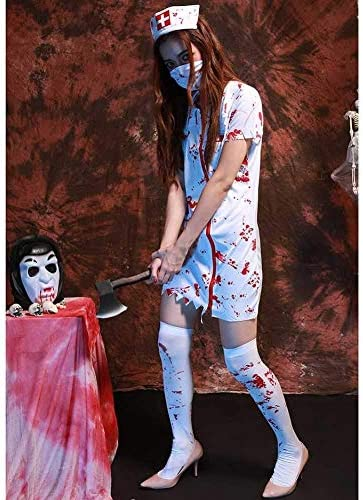 Lili Disfraz De Halloween Señoras Zombie Enfermera Camiseta Collar ...