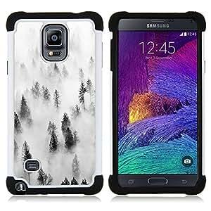 For Samsung Galaxy Note 4 SM-N910 N910 - forest fog mist trees nature inspiring Dual Layer caso de Shell HUELGA Impacto pata de cabra con im??genes gr??ficas Steam - Funny Shop -