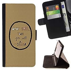 Momo Phone Case / Flip Funda de Cuero Case Cover - Inspirado burbuja Texto motivación - Huawei Ascend P8 (Not for P8 Lite)