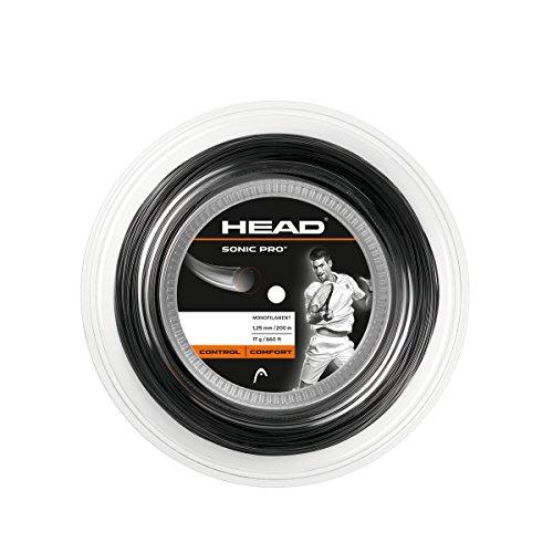 HEAD Sonic Pro Monofilament Tennis Racket String 17g 660′ Reel – Black