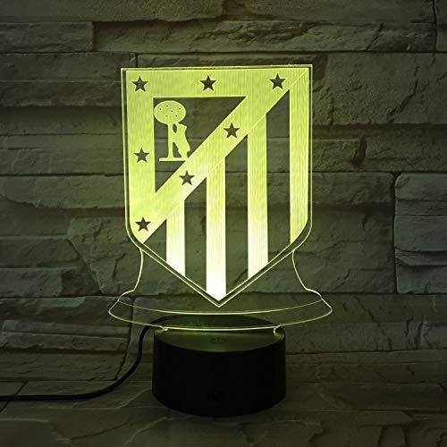 Real Madrid Equipo Estándar, Luz de noche, ilusión 3D luz de ...