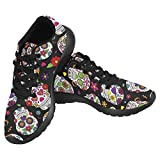 Cheap InterestPrint Women's Jogging Running Sneaker Lightweight Go Easy Walking Casual Comfort Sports Running Shoes Size 6 Day Of The Dead Sugar Skull