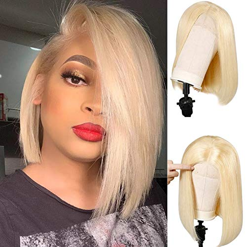 Lemoda Blonde 613 Bob Lace Front Wig Straight Human Hair Wigs for Women Glueless Short Cut Wigs Pre plucked With Baby…