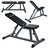 Goplus-Adjustable-Folding-Sit-Up-AB-Incline-Abs-Bench-Flat-Fly-Weight-Workout