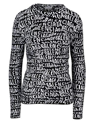 Balenciaga Luxury Fashion Womens 583162T51221070 Black Sweater | Fall Winter 19