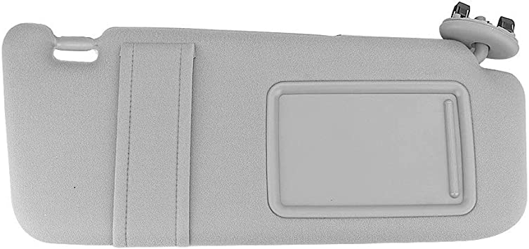 IDENUONA Sun Visor Driver Side for 2007 2008 2009 2010 2011 Toyota Camry Without SUNROOF Gray