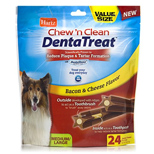 Hartz Chew 'n Clean DentaTreat for Medium/Large Dogs, 24-Pack