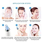 Pore Cleaner Blackhead Remover Facial Pore Cleaner Electric Pore Vacuum Extraction Removal Rechargeable Skin Peeling Machine with 4 Replaceable Suction Heads