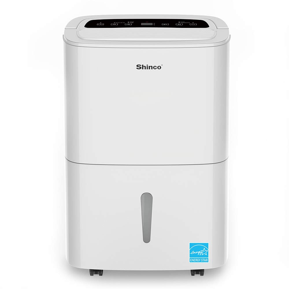 Shinco 9 Gallon (70 Pints) Portable Dehumidifier, Energy Star, Large Capacity, Compact Dehumidifier for Home, Bathroom, Kitchen, Bedroom, for Spaces Up to 5000 Sq Ft, Continuous Drain Hose Outlet