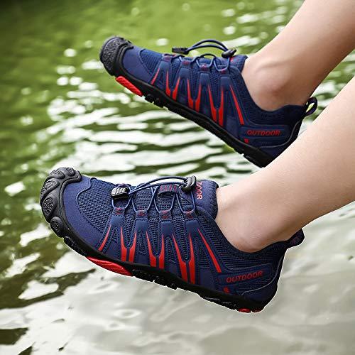 Zapatos De Buceo,Zapatos De Verano De Agua De Secado Rápido Azules Zapatos De Natación De Playa Deportiva Hombres…