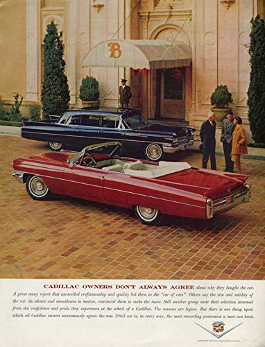 - Cadillac owners don't always agree Convertible & Limousine ad 1963 H