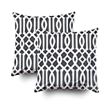 Capsceoll 2PCS Modern Charcoal Gray and White Imperial Decorative Throw Pillow Case 18X18Inch,Home