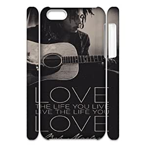 YUAHS(TM) Customized 3D Hard Back Cover Case for Iphone 5C with Bob Marley YAS138082