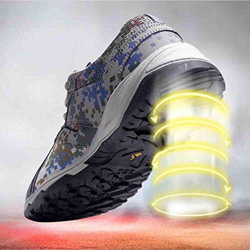 Scarpe da passeggio in gomma da uomo in autunno e in inverno scarpe sportive traspiranti antiscivolo antiscivolo per campeggio in arrampicata in trekking , Camouflage , 40