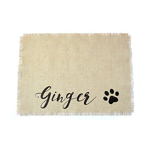 Personalised Dog Feeding Mat with Custom Name, Dog Placemat, Pet Placemat for Dog Food Bowl (Personalised Mats Dog Feeding)